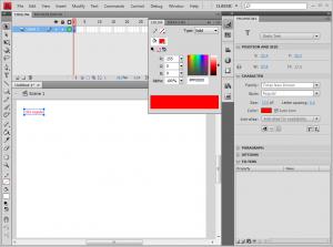 Interface da IDE do Flash